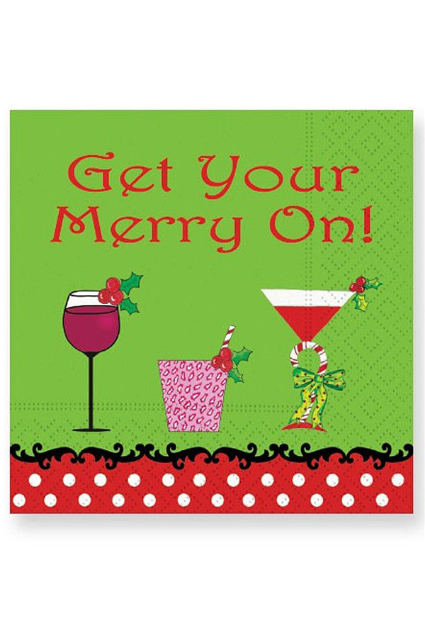 Holiday Cocktail Napkins - Merry On