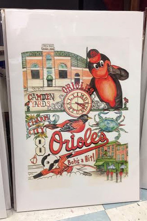 Unframed Collage - Baltimore Orioles