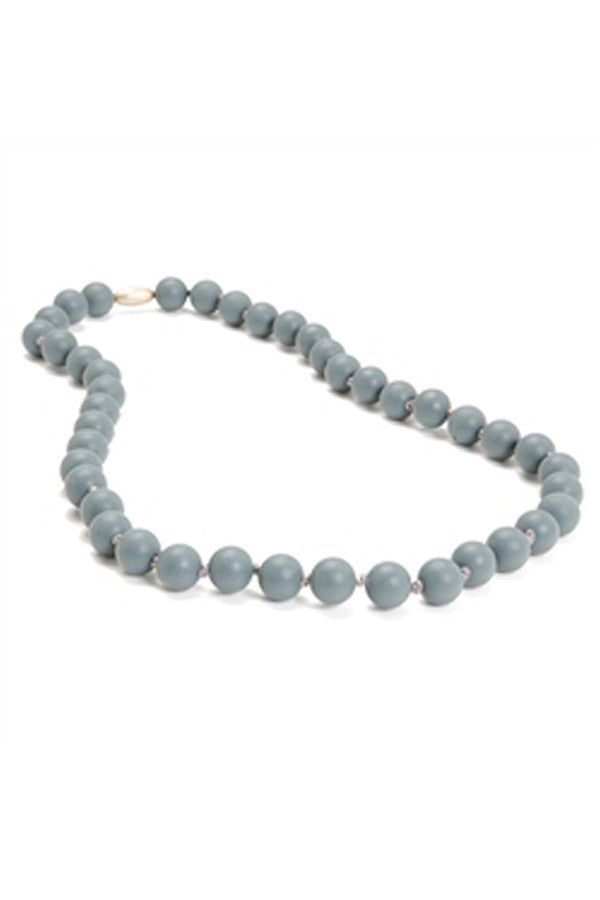 Jane Baby Teething Necklace - Stormy Grey