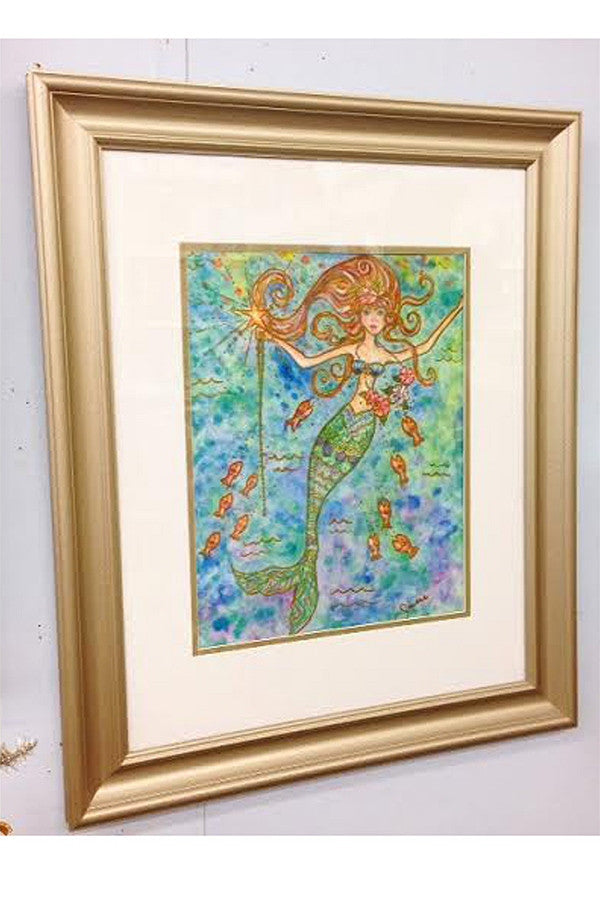 Silver Framed Collage - Whimsy Mermaid