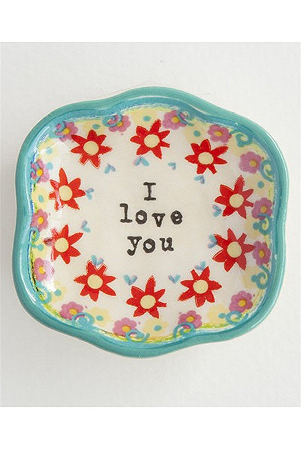 "Mini Art Trinket Dish - ""I Love You""  - iloveyou"