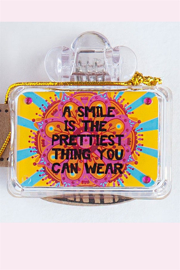 Square Toothbrush Cover - A Smile is the Prettiest  - SMILEPRETTIE