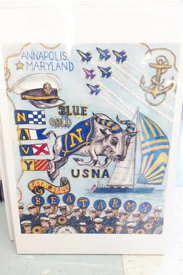 Unframed Collage - United States Naval Academy