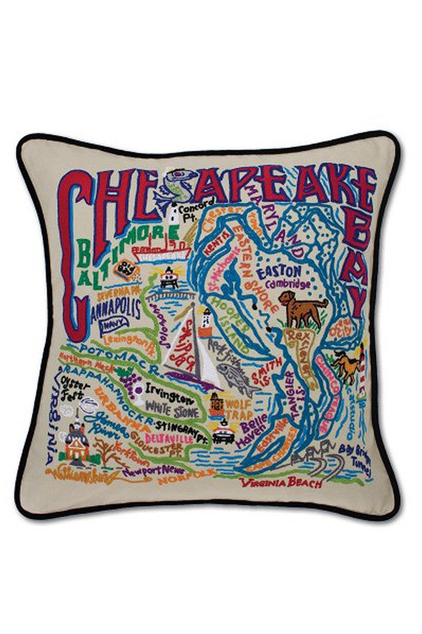 Chesapeake Bay Embroidered Pillow