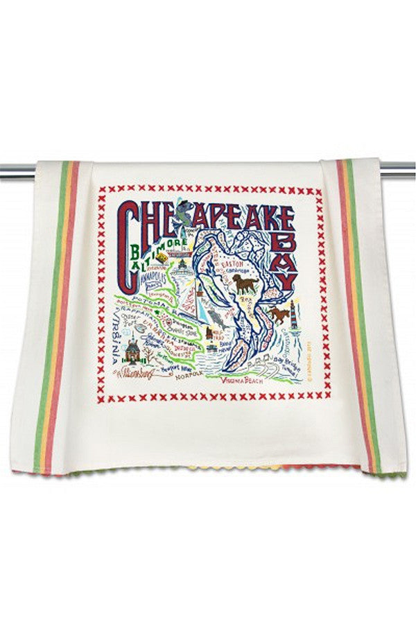 CS Embroidered Dish Towel  - Chesapeake Bay