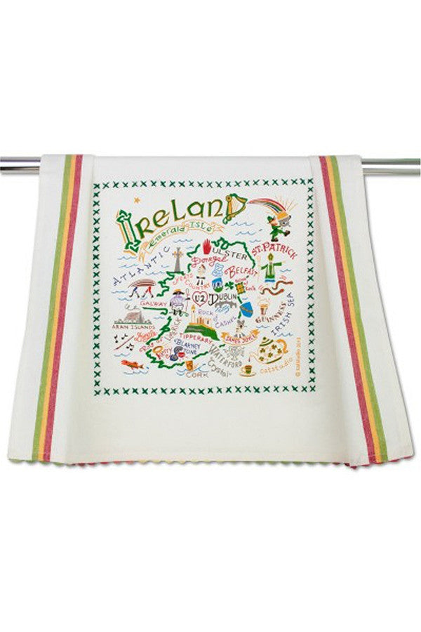 Embroidered Dish Towel  - Ireland