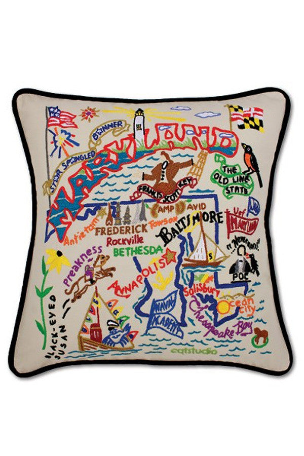 Maryland Embroidered Pillow