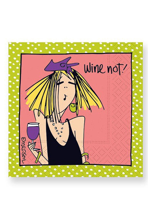 "Napkins - ""Wine Not"""