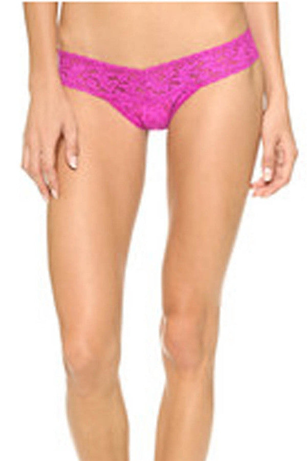 Low Rise Thong - Sour Cherry Fuchsia Pink  - SOURCHERRY