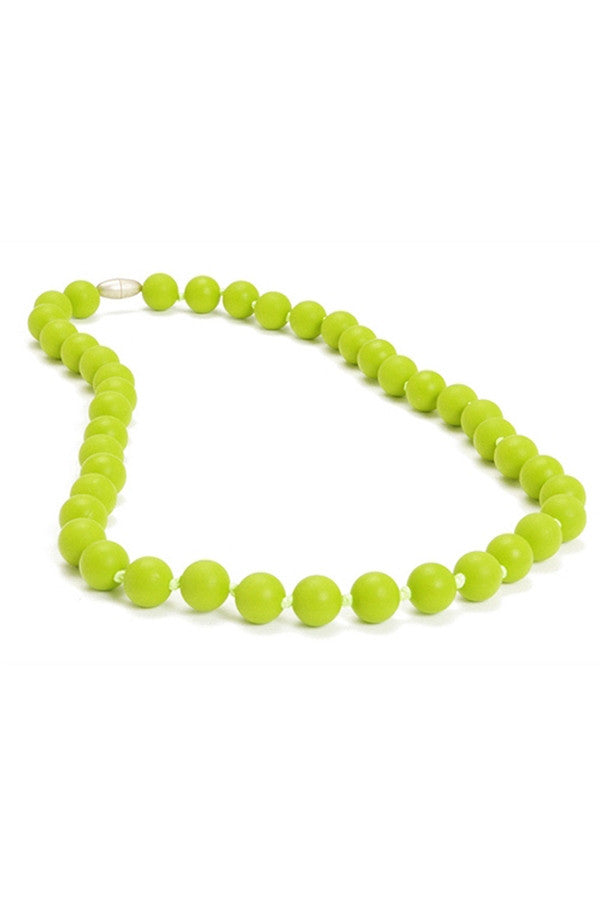 Jane Baby Teething Necklace - Chartreuse Lime Green