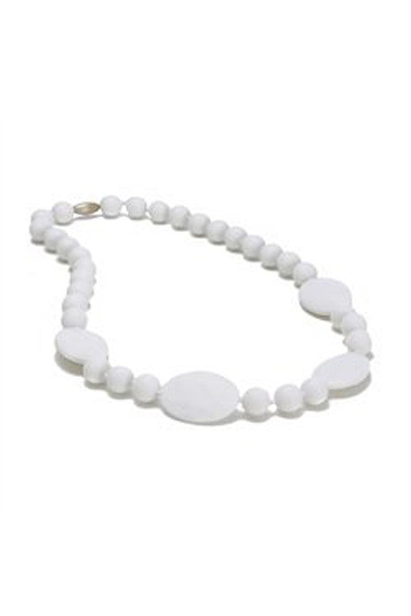 Perry Baby Teething Necklace - White