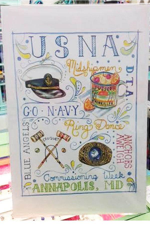 Unframed Collage - Whimsy Naval Academy