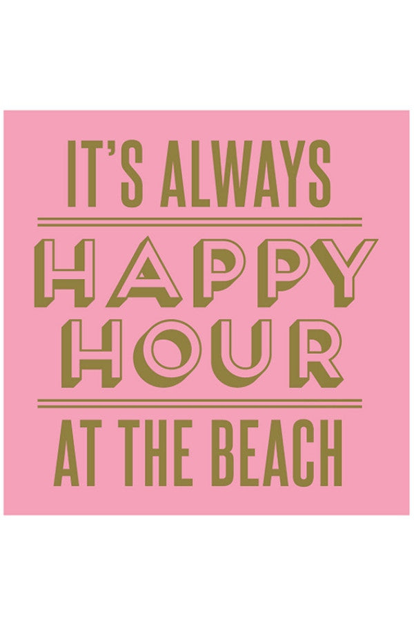 Cocktail Napkins - Happy Hour at the Beach  - HAPYHOURBEAC