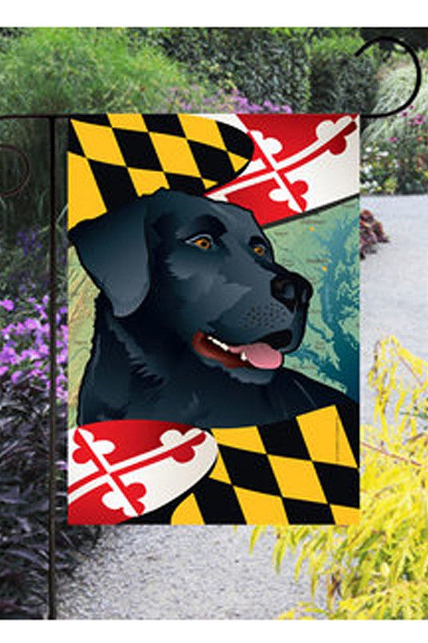 Small Garden Flag - Maryland Black Lab