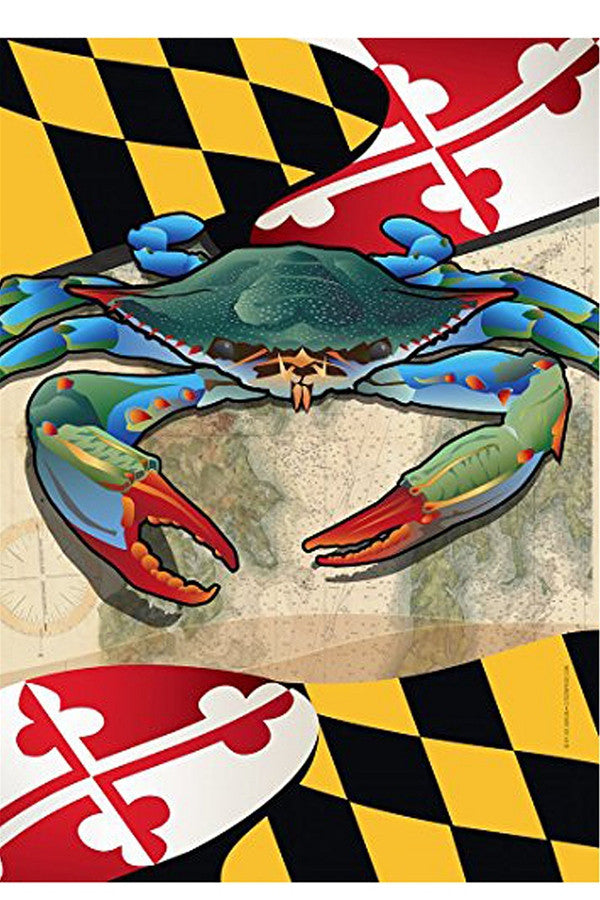 Small Garden Flag - Maryland Blue Crab