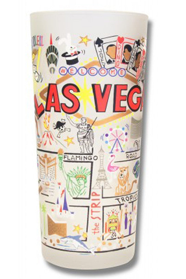 CS Frosted Glass Tumbler Cup - Las Vegas