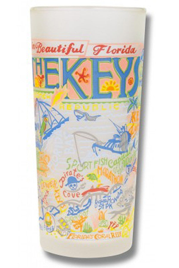 CS Frosted Glass Tumbler Cup - Florida Keys