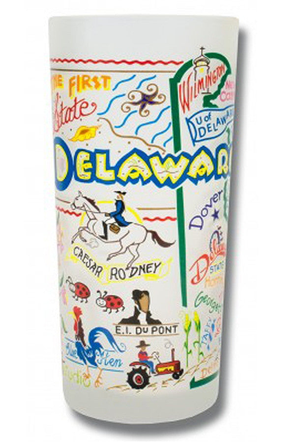 CS Frosted Glass Tumbler Cup - Delaware