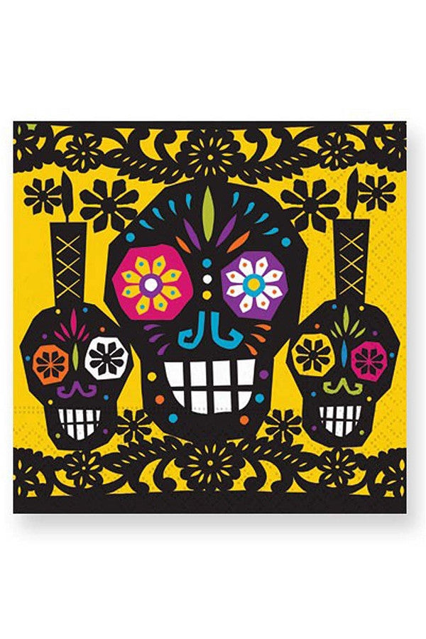 Halloween Cocktail Napkins - Sugar Skulls  - SUGARSKULLS