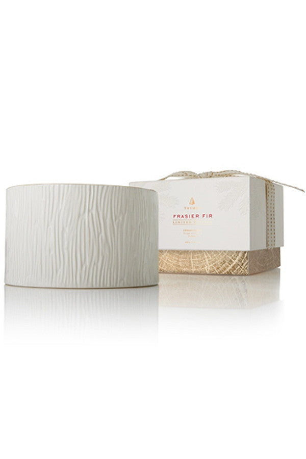 Frasier Fir 3 Wick Candle - Large Ceramic White