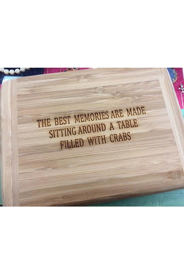 "Bamboo Cutting Board - ""The Best Memories"""