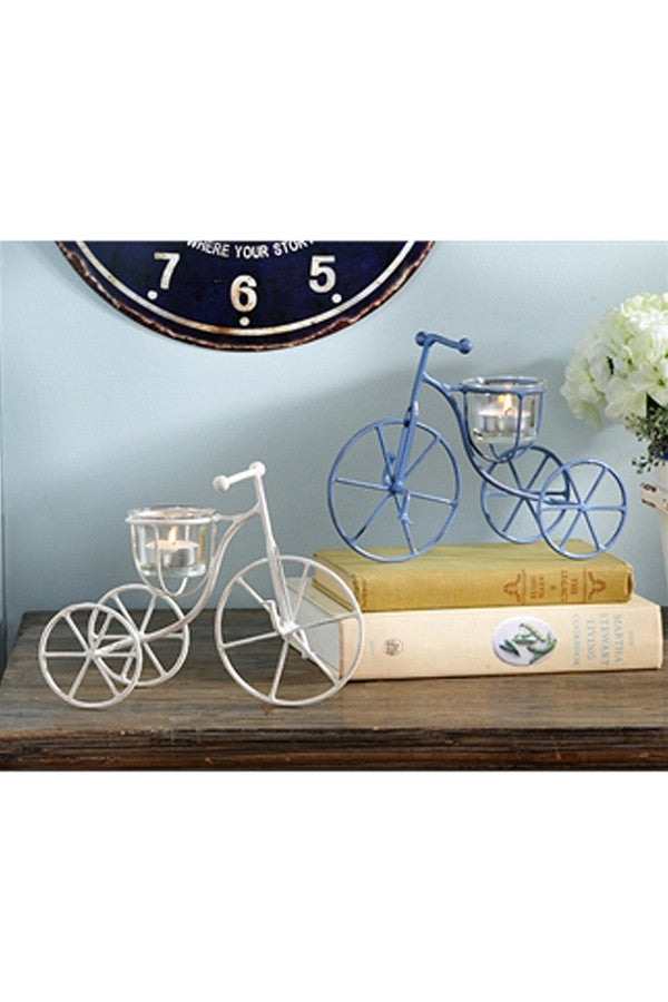Mini Tricycle Candle Votive Holder  - PERIWINKLE