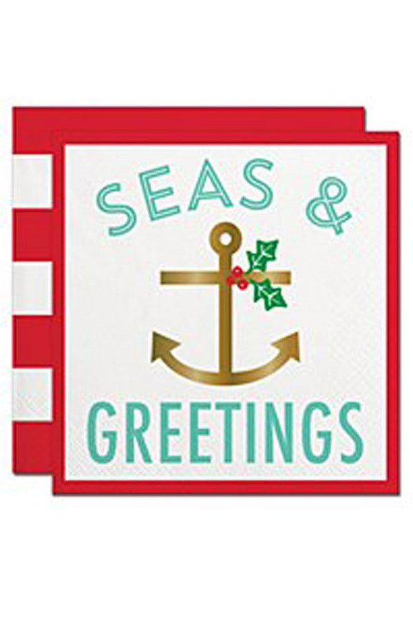 Holiday Cocktail Napkins - Seas & Greetings  - SEAS&GREETIN