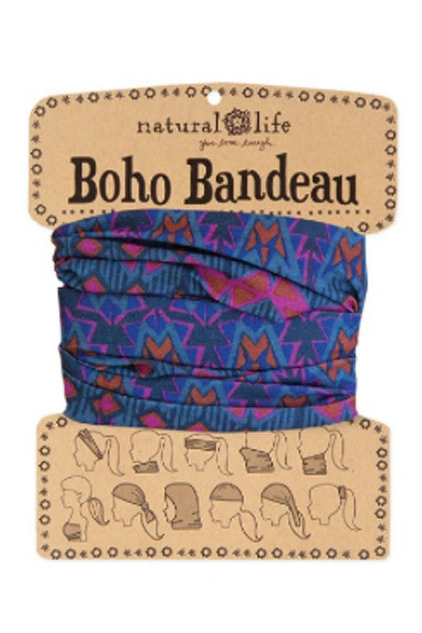 Boho Bandeau - Gray Rust Purple