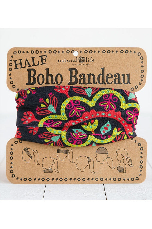 HALF! Boho Bandeau - Black Green Lime  - BLK/RED/GR