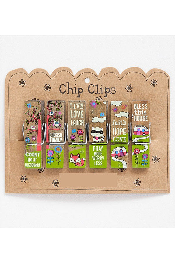 Chip Clip Set - Critter Sentiments   - CRITTERSENTI