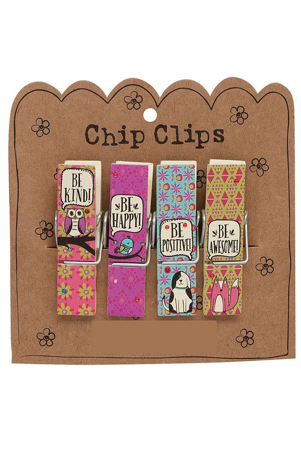Chip Clip Set - Critter Speech Bubbles  - CRITTERSPEAC