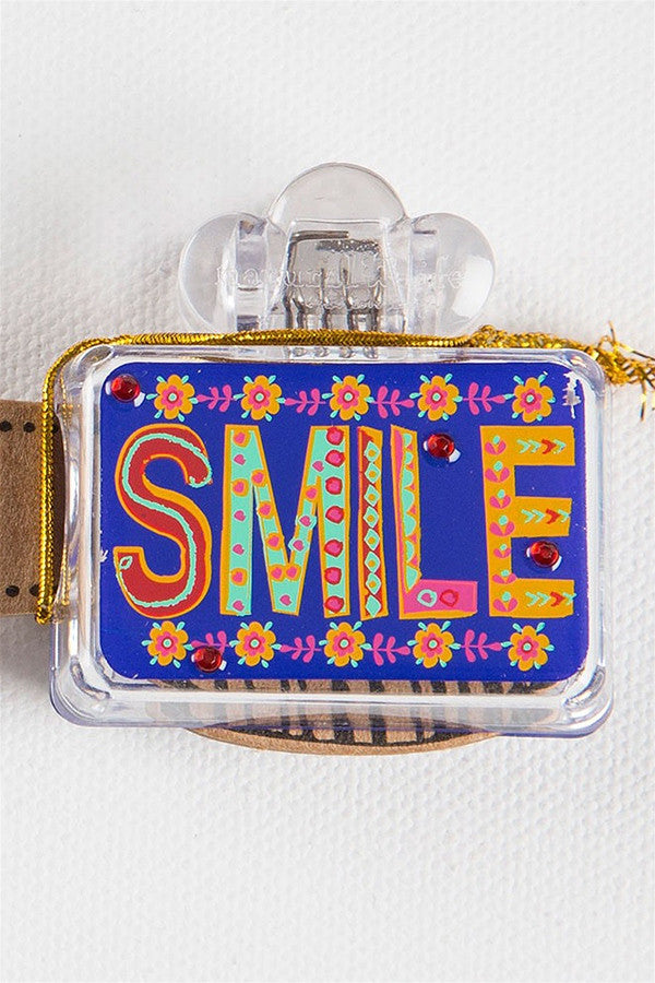 "Square Toothbrush Cover - Neon ""SMILE""  - NEONSMILE"