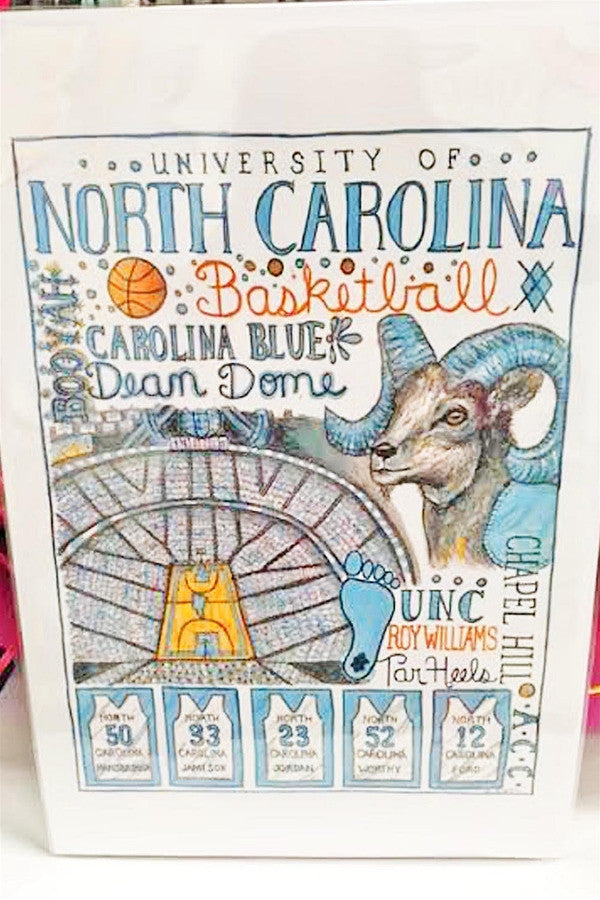 Unframed Collage - University of North Carolina  - UNC
