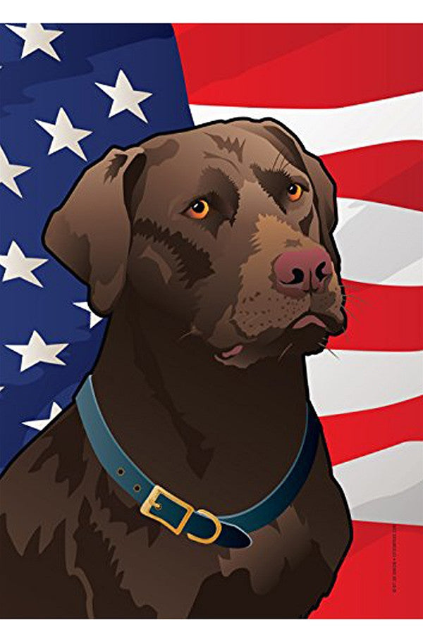 Small Garden Flag - USA Chocolate Lab  - CHOCLAB