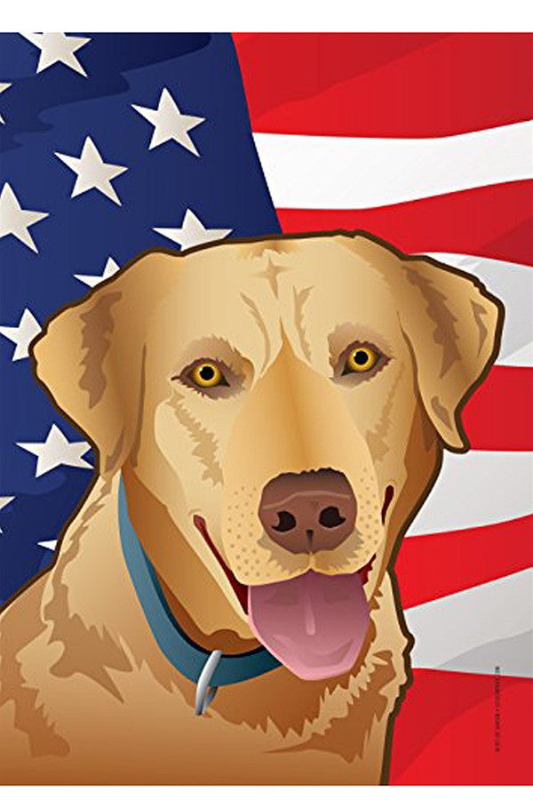 Small Garden Flag - USA Yellow Lab  - YELLOWLAB