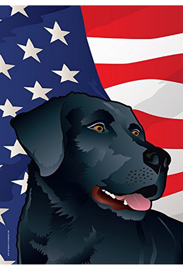 Large House Flag - USA Black Lab   - BLACKLAB