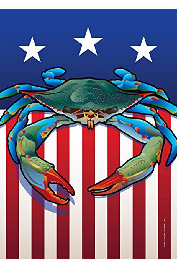 Large House Flag - USA Blue Crab  - BLUECRAB