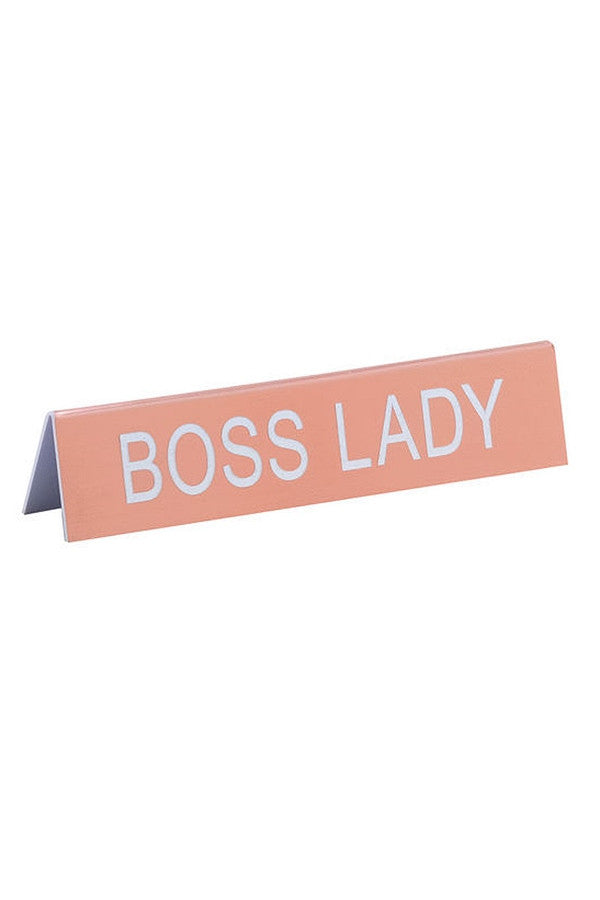 Office Table Sign - Boss Lady  - BOSSLADY
