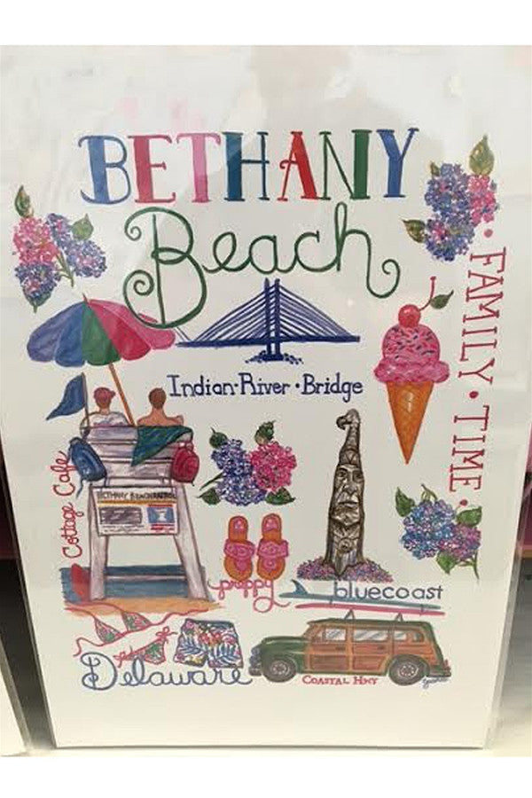 Unframed Collage - Preppy Bethany Beach, DE