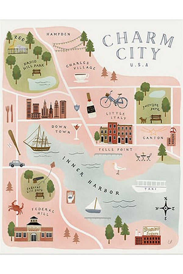 APP Print - Charm City Baltimore Map