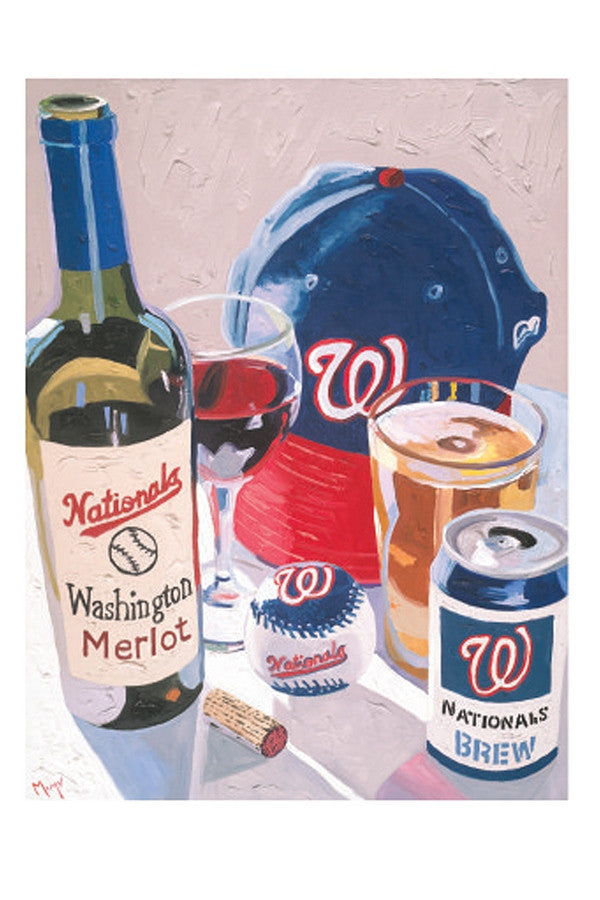 Wine Art - Cheers to the Nationals  - CHEERSNATION
