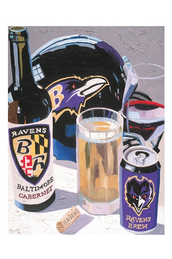 Wine Art - Cheers to the Ravens  - CHEERSRAVENS