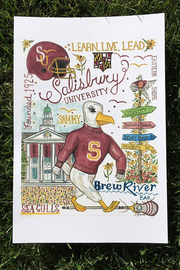 Unframed Collage - Salisbury University
