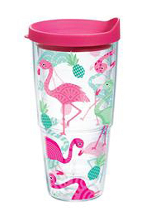 24oz Wrapped Tumbler - Flamingo Pattern  - FLAMINGOPATT