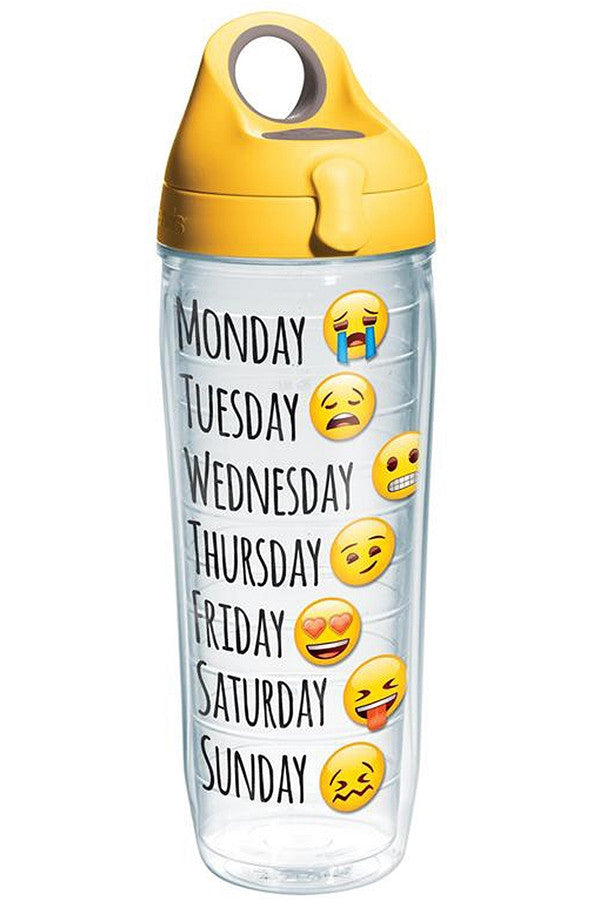 Wrapped Water Bottle - Emoji Days Yellow  - EMOJIDAYS