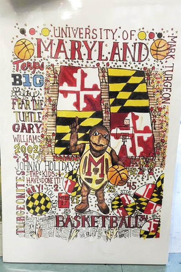 Unframed Collage - University of Maryland Terps Basketball