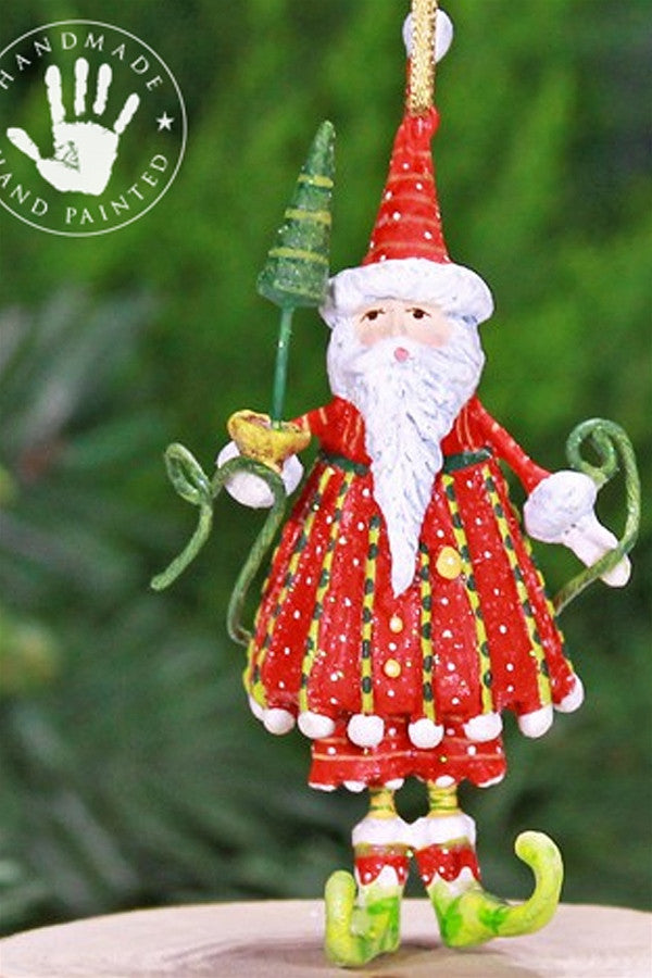 Mini Ornament - Dashing Santa