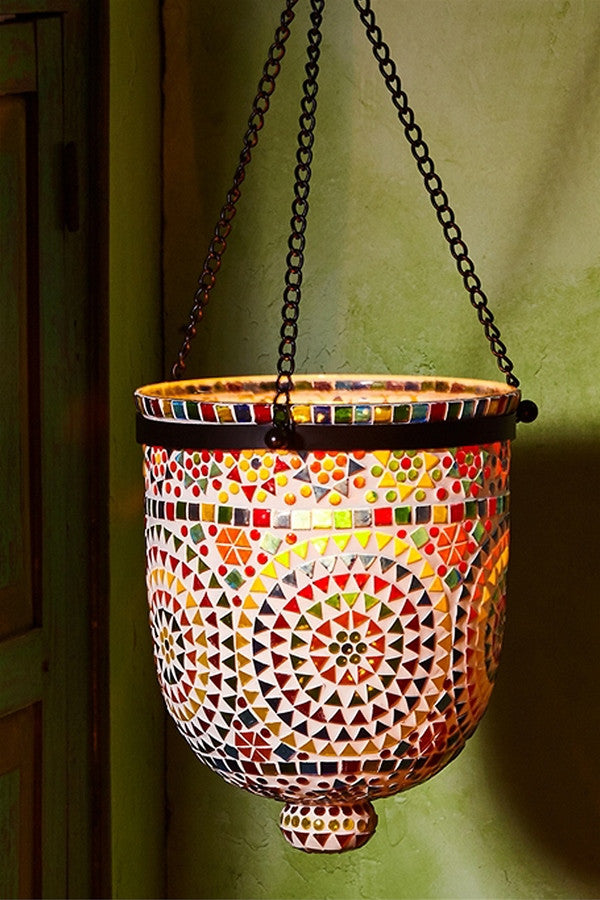 Mosaic Hanging Candle Holder
