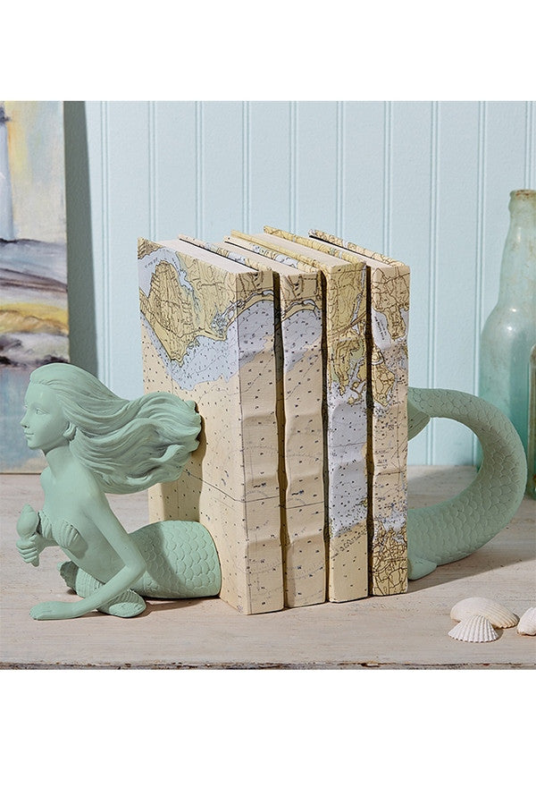 Mermaid Bookends  - WHITE