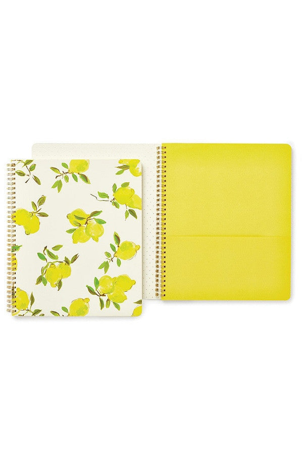 Large Spiral Notebook - Lemon